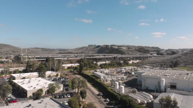 Overpass I-5 and I-805 junction in San Diego, CA office park stock videos & royalty-free footage
