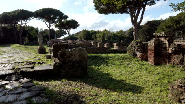 Overview in the necropolis of the archaeological excavations of Ostia Antica