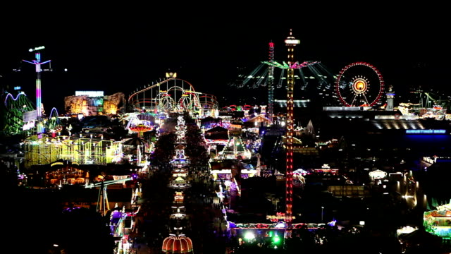 Overview of the Oktoberfest by night video