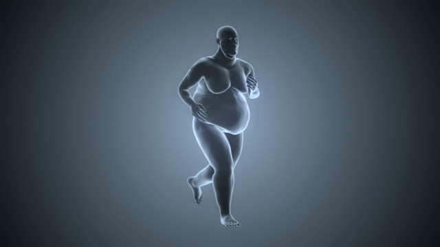Overweight Man Running | Loopable video