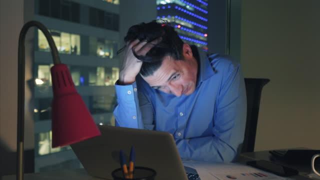 Overworked businessman. video