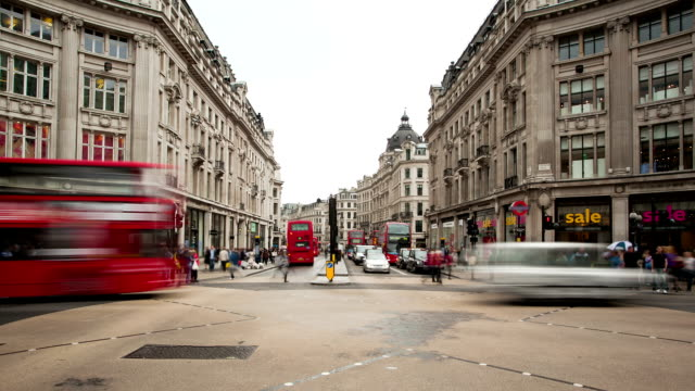 Oxford Circus time lapse in London video