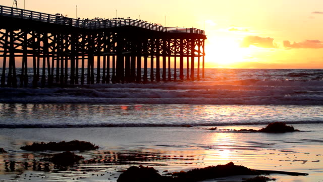 Pacific Beach Pier at Sunset 2 video