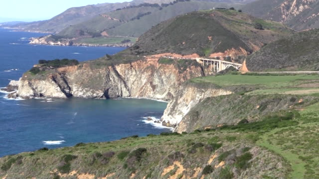 Pacific Coast Highway Bixby Bridge Big Sur California video