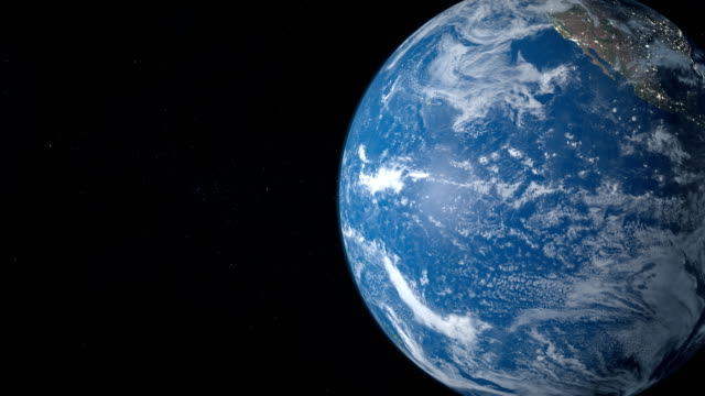 Pacific ocean sea in planet earth, view from outer space video