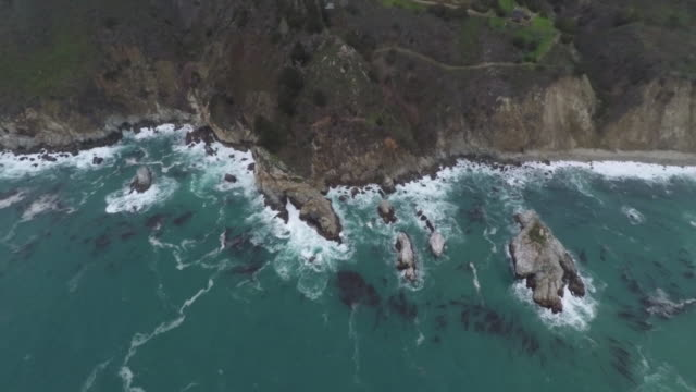 Pacific Ocean Sunset Big Sur Aerial video