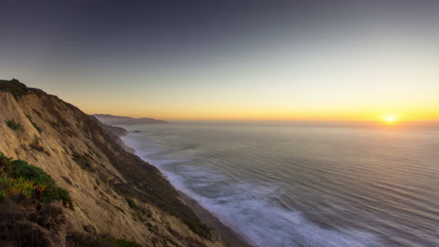 Pacifica Cliffs at Sunset - Time Lapse video