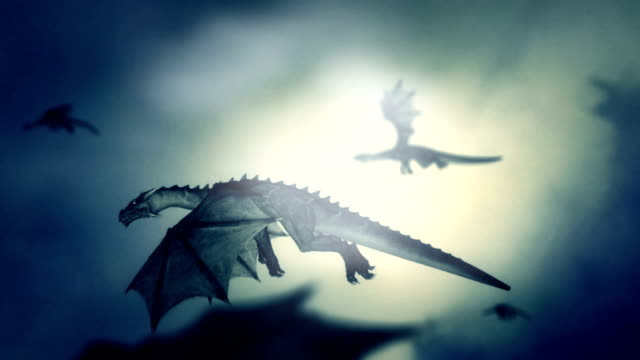 a pack of dragons flying in the sky against the wind - dragon stock videos and b-roll footage
