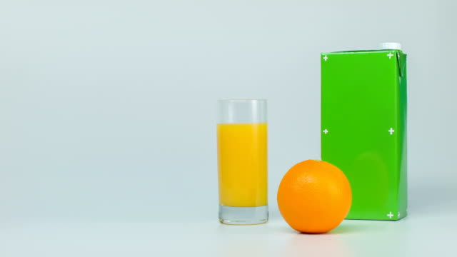 pack orange juice, packshot video