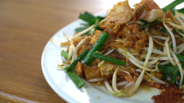 pad thai - tajska kuchnia filmów i materiałów b-roll