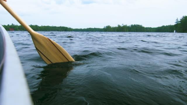 paddel im wasser - kanu stock-videos und b-roll-filmmaterial
