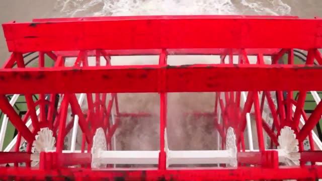 Paddle steamer on the Mississippi River USA