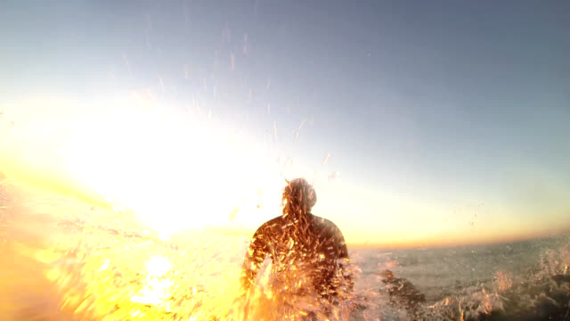 paddling out at sunset video