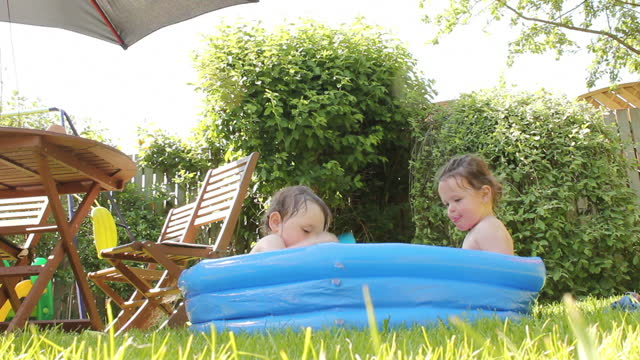 Paddling Pool Fun on a Sunny Day video