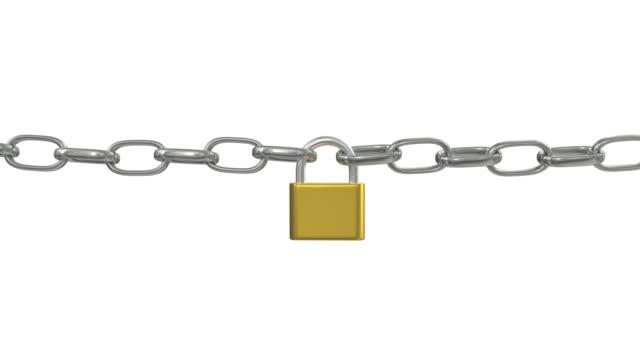 Candado romper cadenas desbloquear seguridad Seguridad protección hack contraseña 4k - vídeo