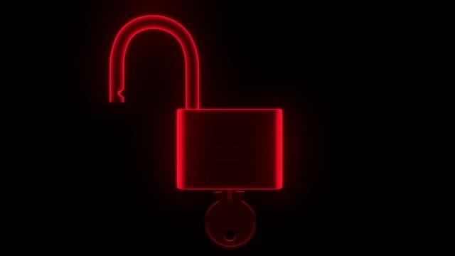 ロック解除ロック キー セキュリティ安全保護ハック パスワード 4 k の南京錠ホログラム - なりすまし犯罪点の映像素材/bロール