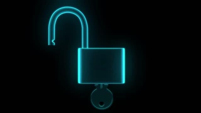 Padlock hologram unlock lock key security safety protection hack password 4k Padlock hologram unlock lock key security safety protection hack password 4k. identity theft stock videos & royalty-free footage