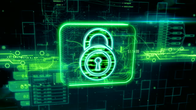Padlock icon on abstract background Abstract animation of padlock icon in digital cyberspace identity theft stock videos & royalty-free footage