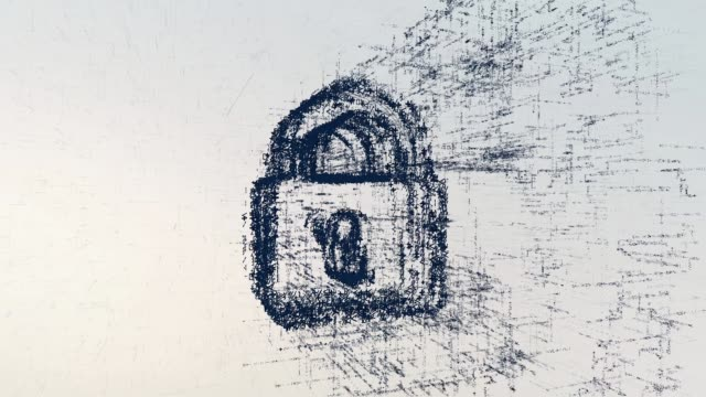 Padlock logo, a design consisting of a code of numbers and a symbol. Abstract protection icon in computer cyber network on a light background Padlock logo, a design consisting of a code of numbers and a symbol. Abstract protection icon in computer cyber network on a light background. housing logo stock videos & royalty-free footage