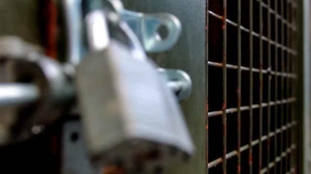 Padlock on Iron Gate video
