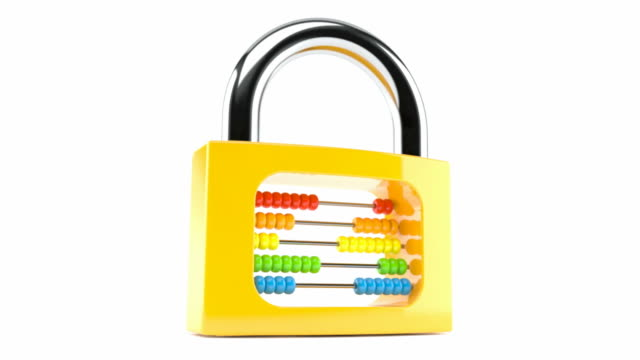 Padlock with abacus video