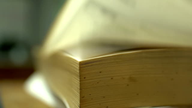 Pages of a book video