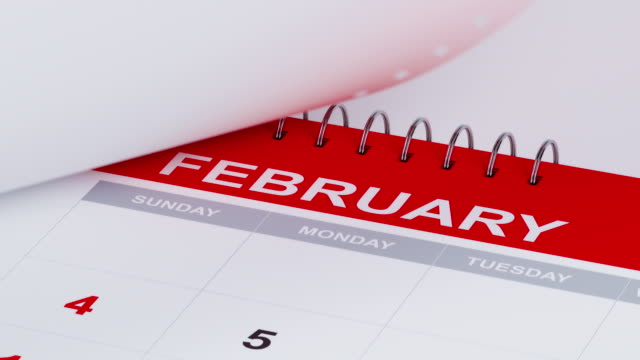 Pages Of A Calendar Are Flying Away In 4 k Resolution