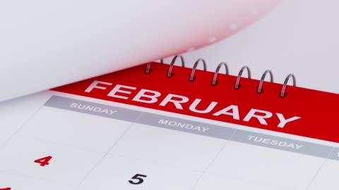 strony kalendarza odlatują w rozdzielczości 4 k - data filmów i materiałów b-roll