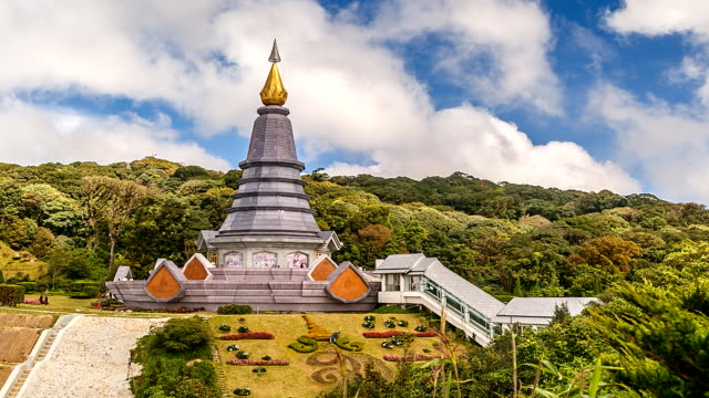 Pagoda in Doi Inthanon, Thailand. video