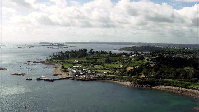 Paimpol  - Aerial View - Brittany,  Côtes-d'Armor,  Arrondissement de Saint-Brieuc helicopter filming,  aerial video,  cineflex,  establishing shot,  France video
