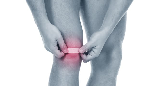 Pain in a knee. sports trauma - video