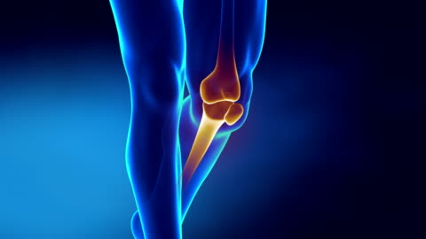 Pain in knee with therapeutic effects Knee healing process limb body part stock videos & royalty-free footage