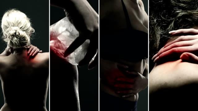 痛みを解消します。ビデオウォールます。 - ホリスティック医学点の映像素材/bロール