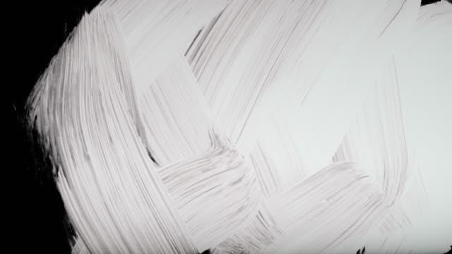 paint brush übergänge 5 aufnahmen mit alpha channel - haartönung stock-videos und b-roll-filmmaterial