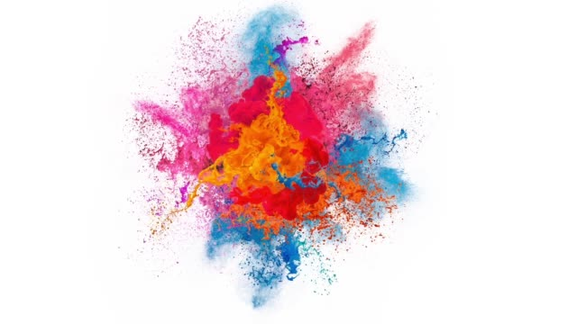 paint explosion - idea stock videos & royalty-free footage