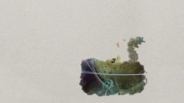 vídeos de stock e filmes b-roll de paint reveal - planets with rings - molho arranjo