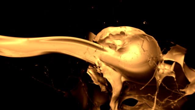 Paint splash against face, Slow Motion video