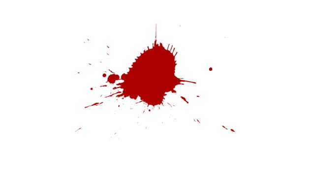 vidéos et rushes de peinture splash. éclaboussure de peinture rouge. - image teintée
