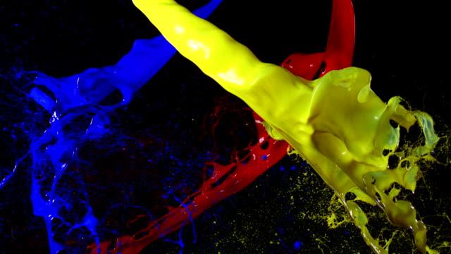 Paint splash, Slow Motion video