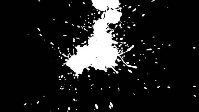 stockvideo's en b-roll-footage met paint splats (four shots) matte. hd - bespatterd