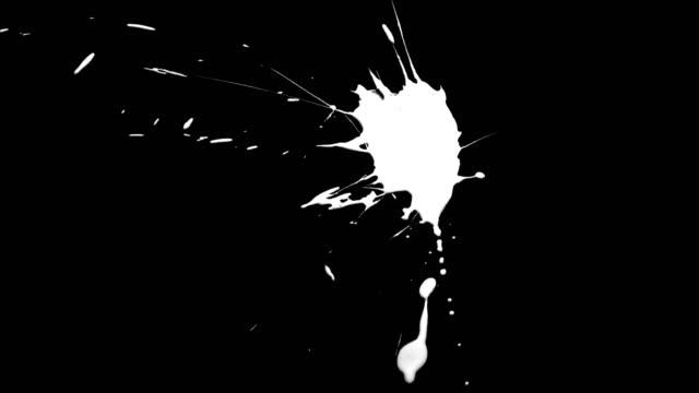 stockvideo's en b-roll-footage met verf splatter spot geïsoleerd 1 - bespatterd