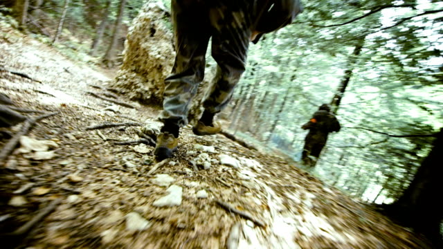 Paintball Players Running video