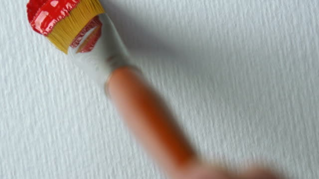 vidéos et rushes de pinceau, gros plan - pinceau