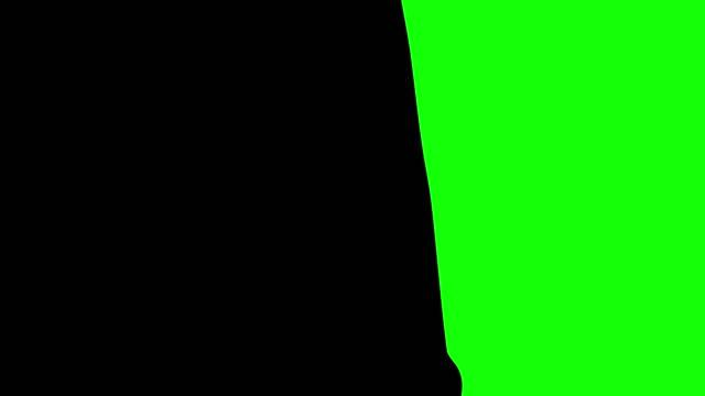 ペイントブラシの遷移。クロマキー合成用。各アニメーションは 2 秒間続く。 - 習字点の映像素材/bロール