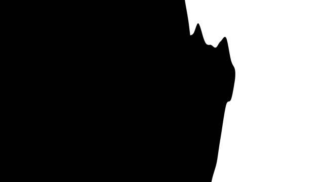 ペイントブラシの遷移。白い背景、黒いブラシ。各アニメーションは 1 秒間続く。 - 習字点の映像素材/bロール