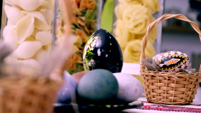 Painted in hand-made Easter eggs video