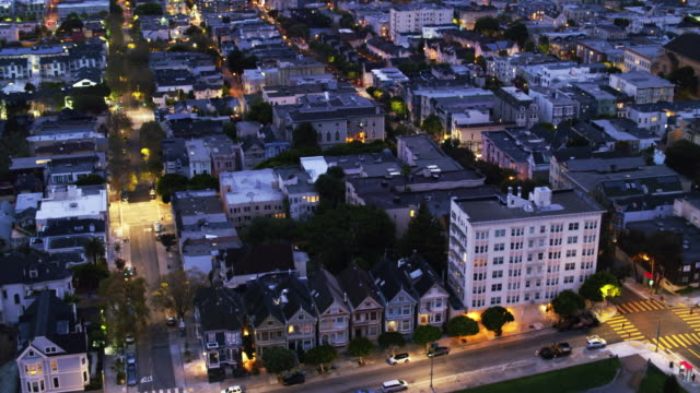 Painted Ladies and San Francisco Cityscape - Drone Shot video