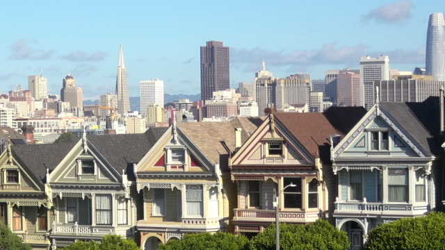 painted ladies san francisco - victorian architecture stock videos & royalty-free footage