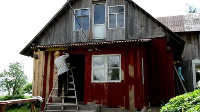 painter man brush wall video