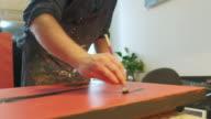 istock Painter's hands working in his studio 1218216255